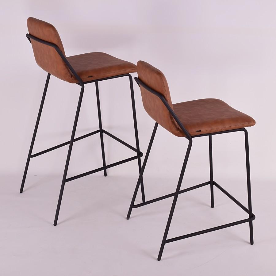 Amazing Sling Barstool Upholstered Nuans Inzonedesignstudio Interior Chair Design Inzonedesignstudiocom