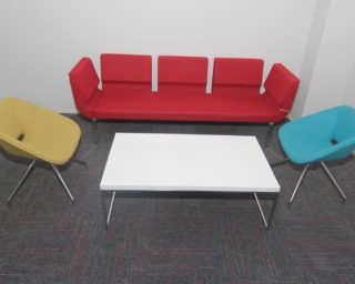 pilot sofa | red swivel chairs