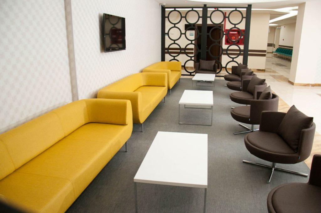 durgu sofa | gordon coffee tables | round armchairs