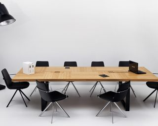 santa conference table | pera swivel chairs