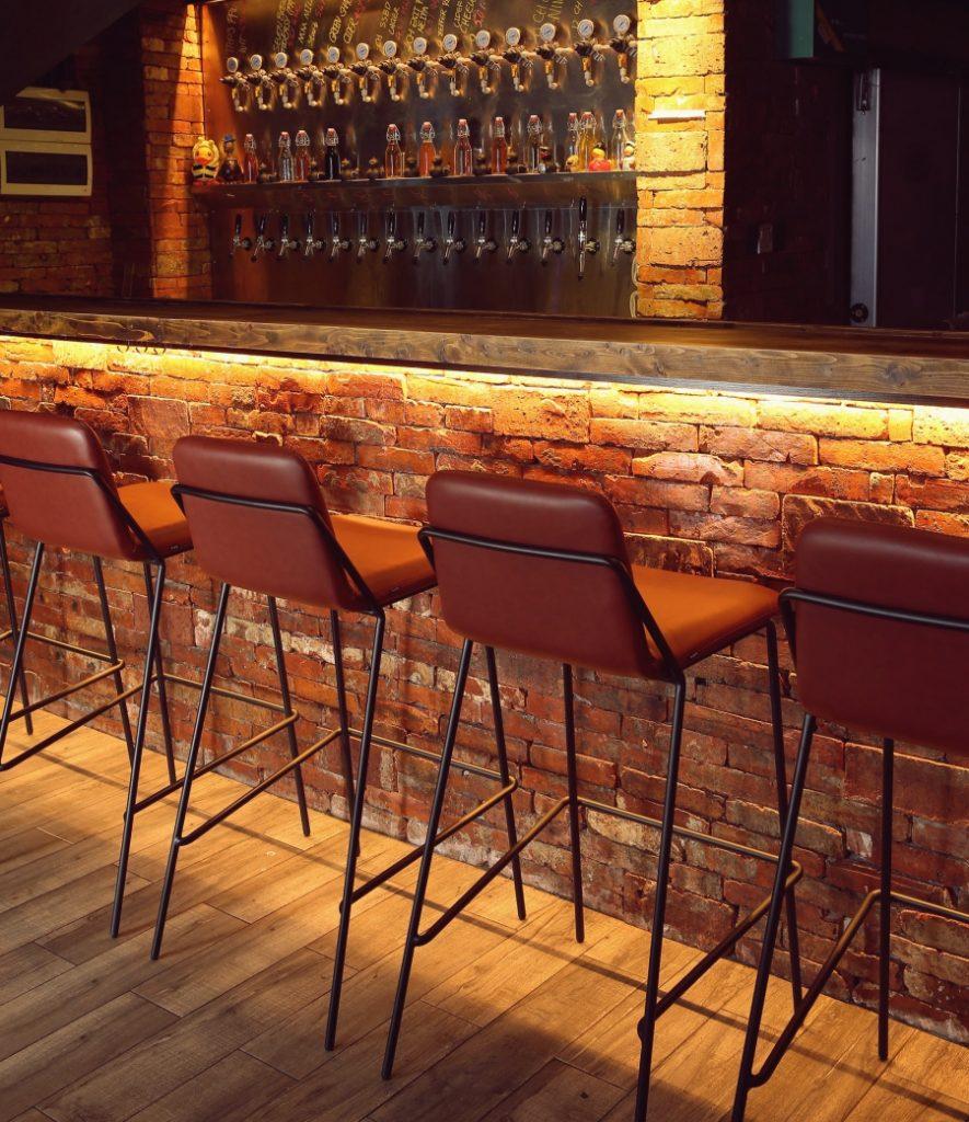 Terrific Sling Barstool Upholstered Nuans Inzonedesignstudio Interior Chair Design Inzonedesignstudiocom