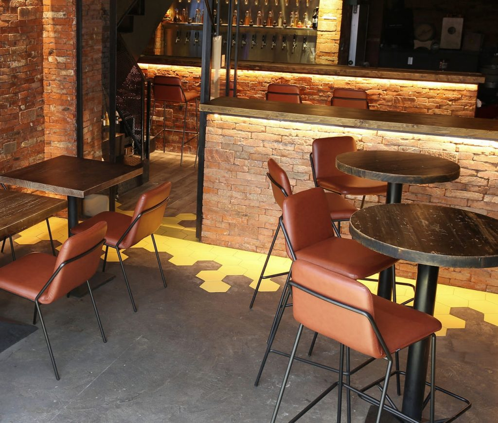 Magnificent Sling Barstool Upholstered Nuans Inzonedesignstudio Interior Chair Design Inzonedesignstudiocom