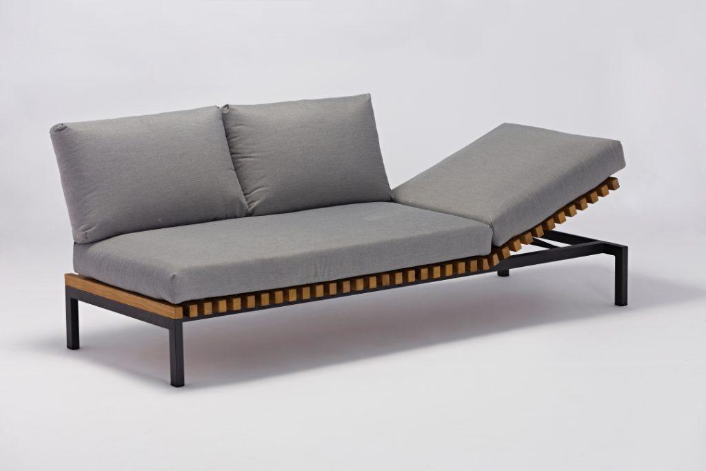 Fields Teak Sofa Chaise Lounge Nuans