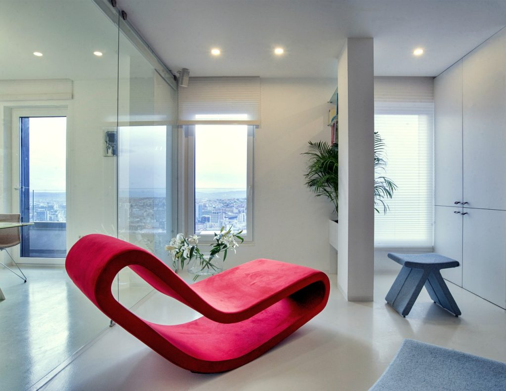Daydream Lounge Chair & PI Stool by B&T