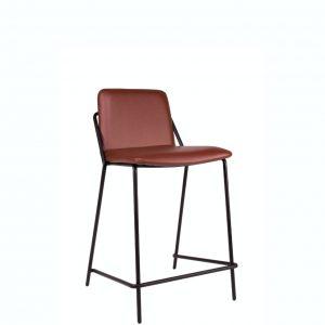 sling counter stool upholstered