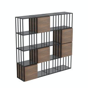 jest shelving w/cupboards