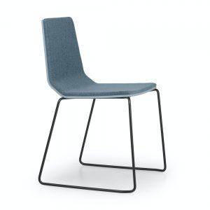 marina chair upholstered - sled base