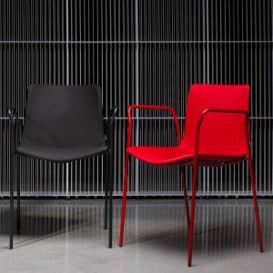 rest chair 4 leg metal w/arm