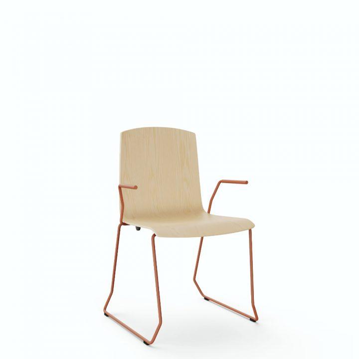 aristo chair sled w/arm