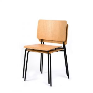 mia stacking chair steel frame