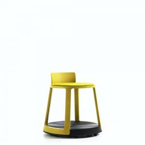 revo low stool on castor base