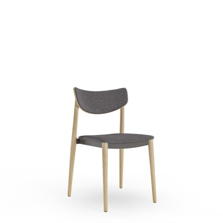dante stacking chair upholstered